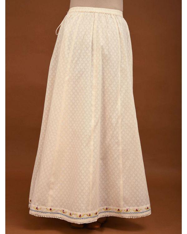 Off white paneled skirt 2