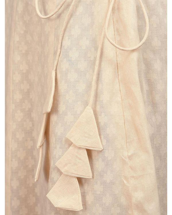 Off white paneled skirt 1