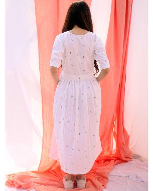 White printed wrap dress 3