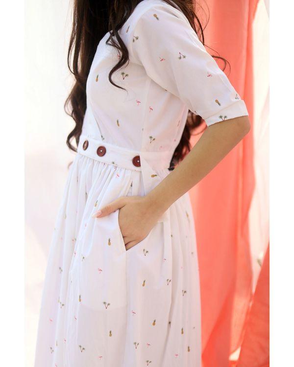 White printed wrap dress 1
