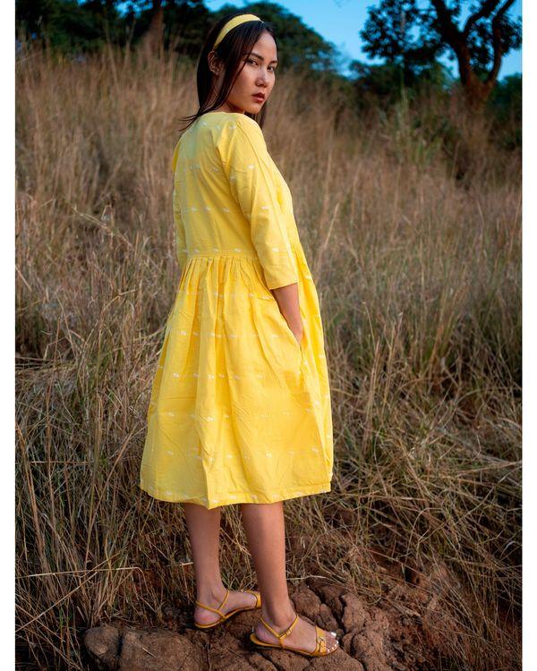 Yellow gathered jacket with pocket 2