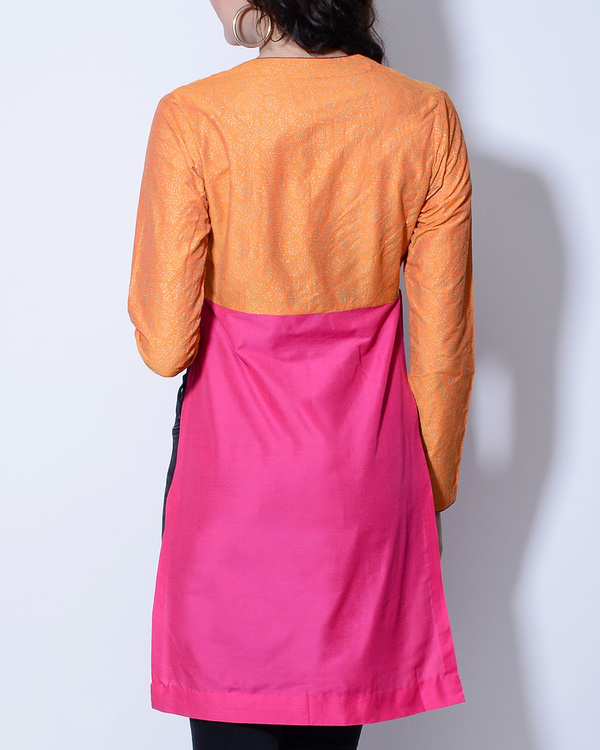 Orange and pink wrap jacket 1