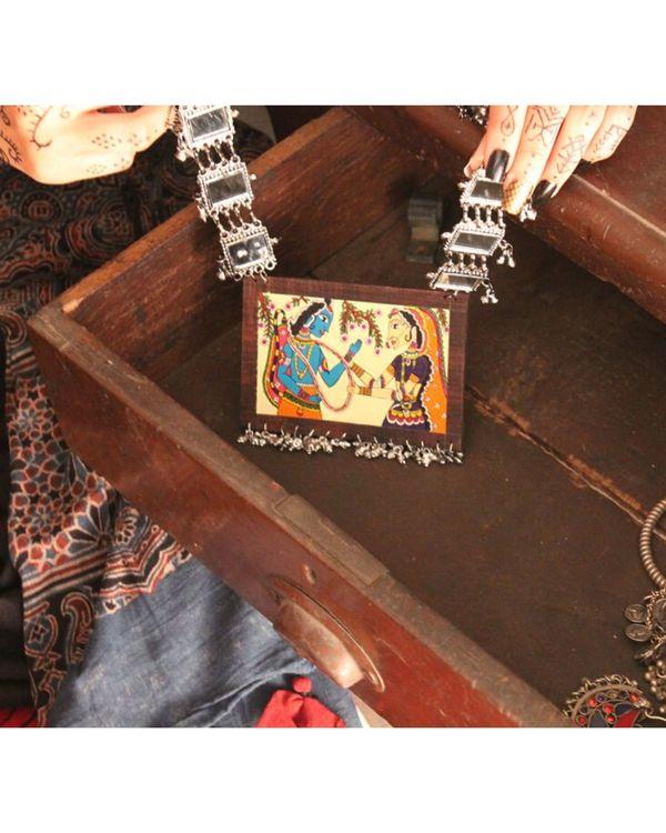 Ramleela hand painted wooden neckpiece 1