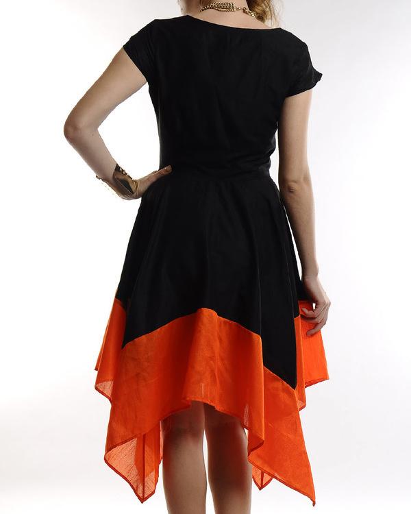Black dress with asymmetric hemline 2