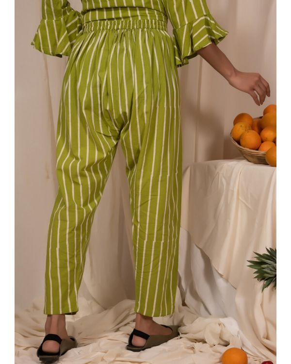 Lime green striped pants 1