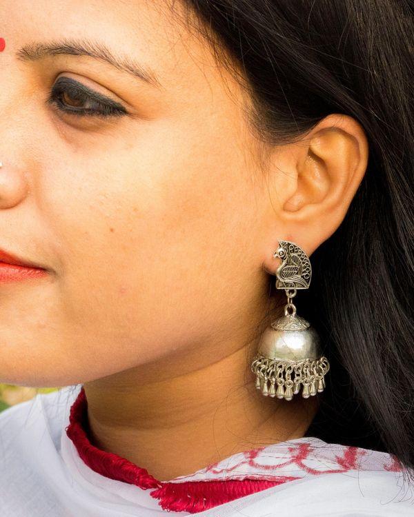 Peacock studded earrings 1