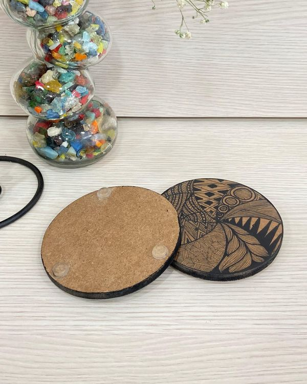 Wooden hand made hot plates - Set Of Two 1
