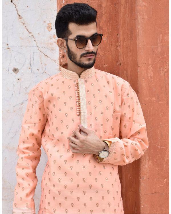 Apricot printed kurta and pyjama - Set Of Two 1