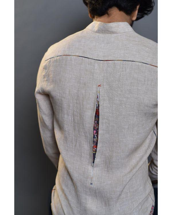 Beige pleated shirt 3