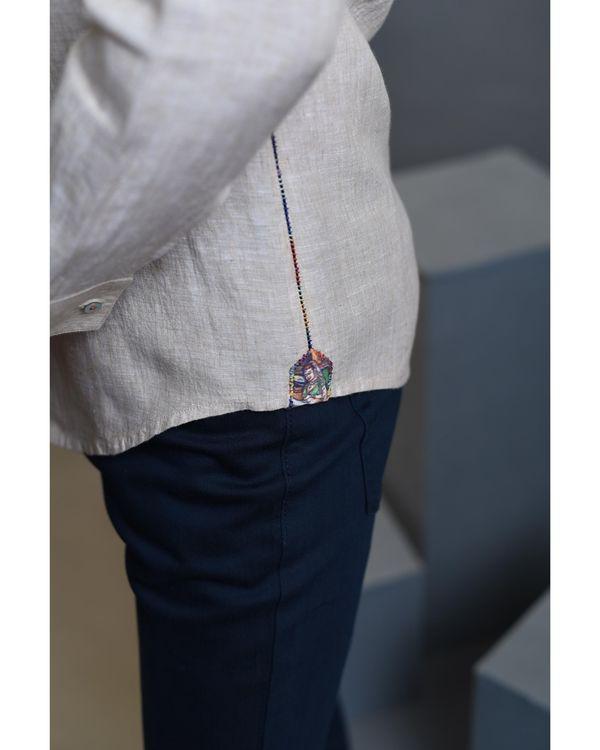 Beige pleated shirt 2
