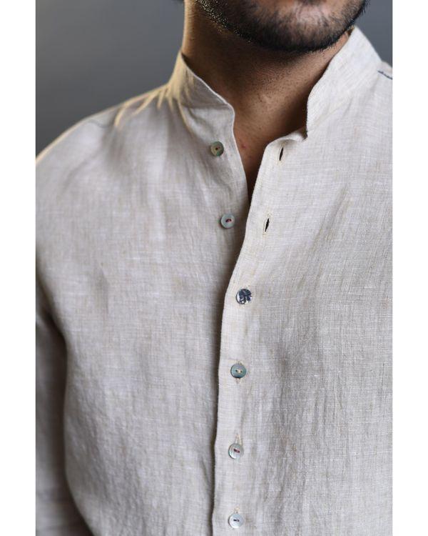 Beige pleated shirt 1