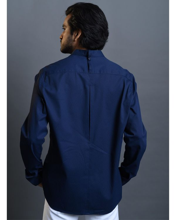 Blue pin tucks shirt 3