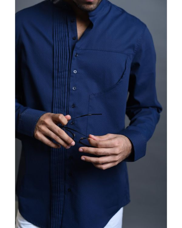 Blue pin tucks shirt 2