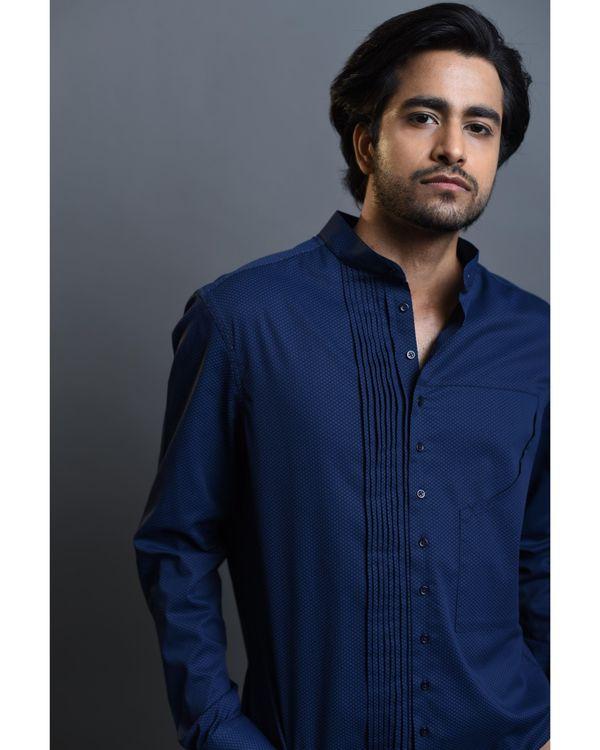 Blue pin tucks shirt 1