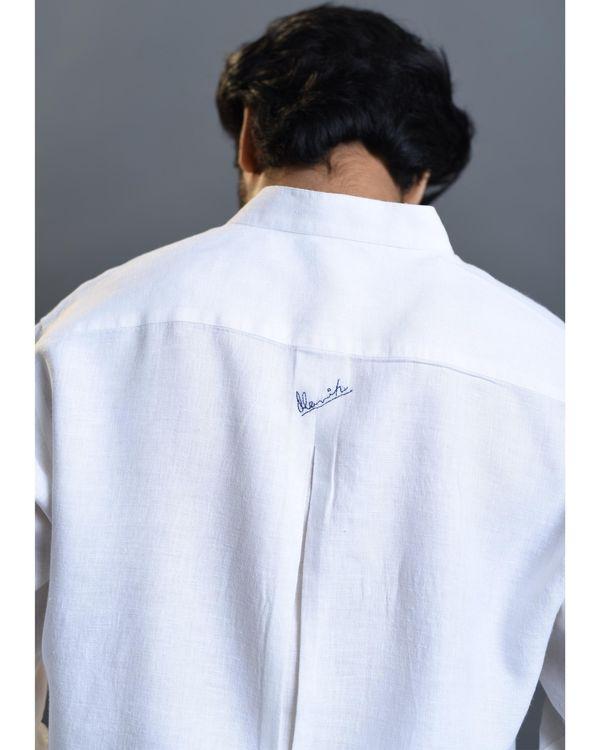 White printed linen shirt 3