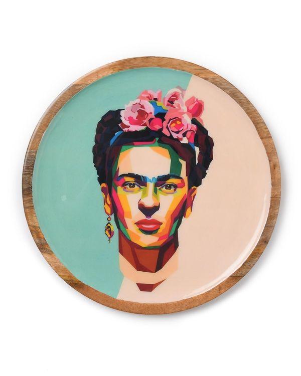 Frieda wooden tray with enamel finish 1