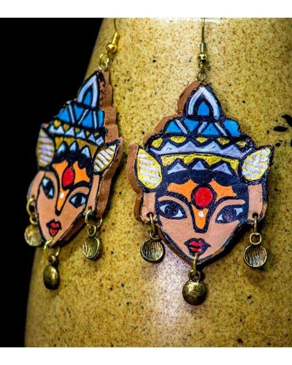 Deity motif terracotta dangler earring 2