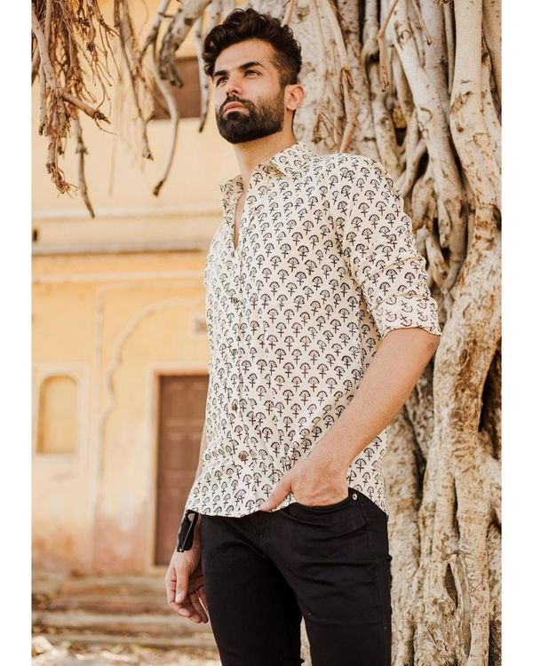 Off white and black bagh printed shirt 1