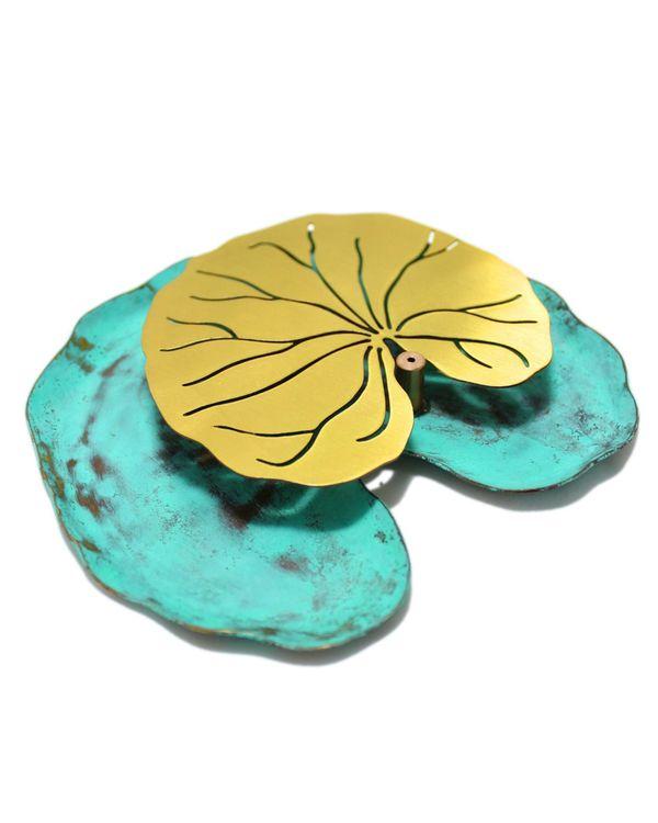 Lotus leaf incense stick holder 2