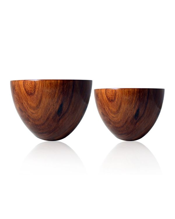 Large oval rosewood bowl 2