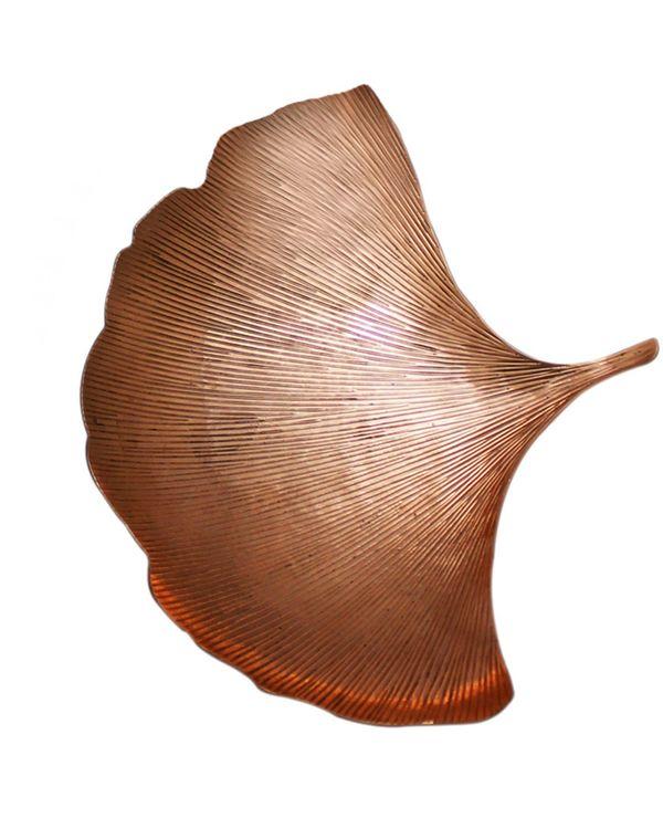 Copper ginkgo leaf platter - Set Of Two 2