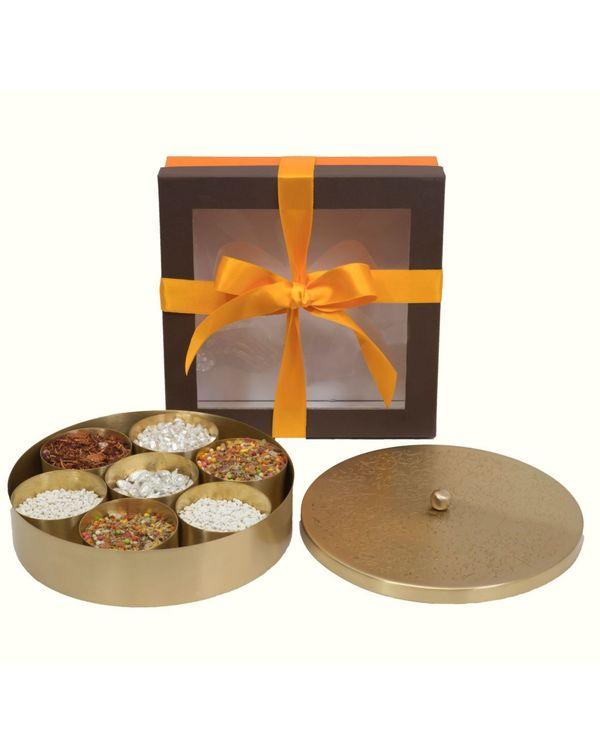Floral motif condiments box set - Large 1