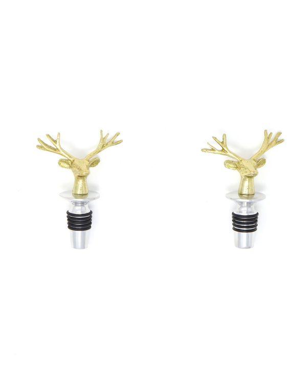 Vintage deer bottle stoppers - Set Of Two 1