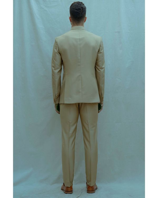 Beige bandgala with shirt and pants - Set Of Three 1