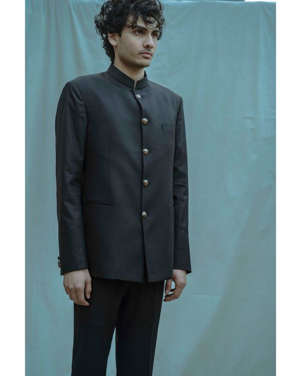Black bandgala and white shirt with pants - Set Of Three 1