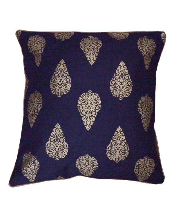 Blue buti printed cushion covers (small) - Set Of Four 1