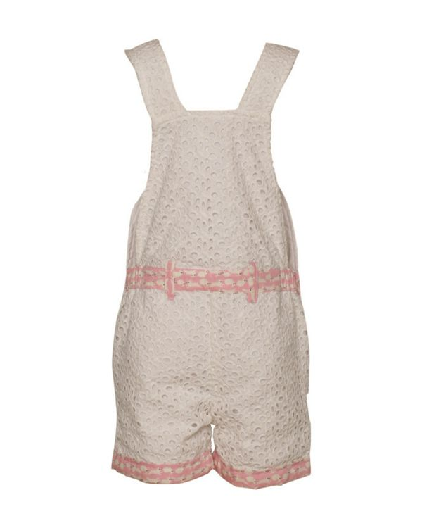 White bunny hop cutwork dungaree 2