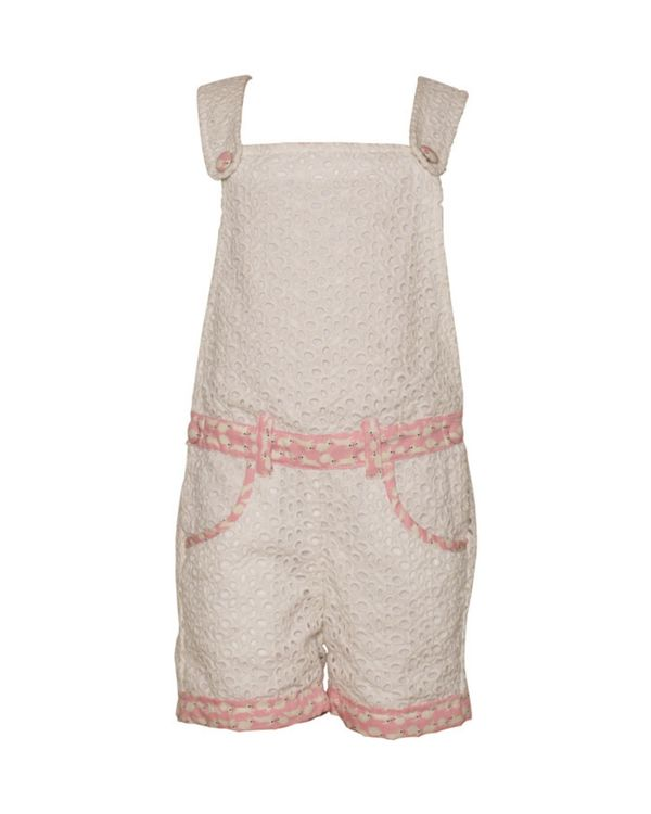 White bunny hop cutwork dungaree 1