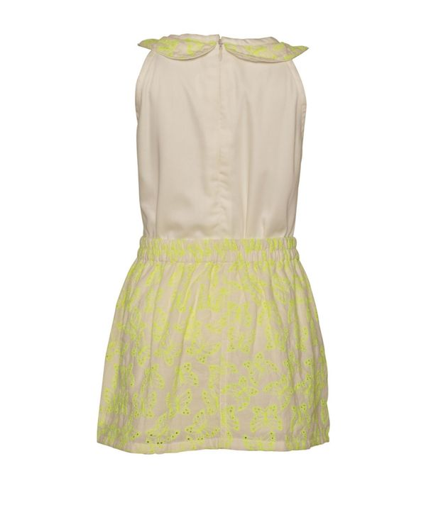 Yellow butterfly embroidered top and skirt - Set Of Two 2
