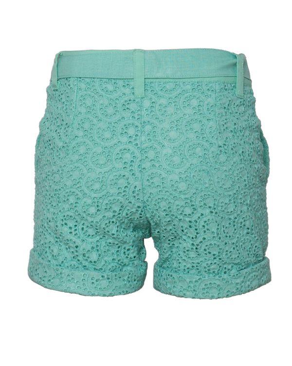 Mint green cutwork shorts 1