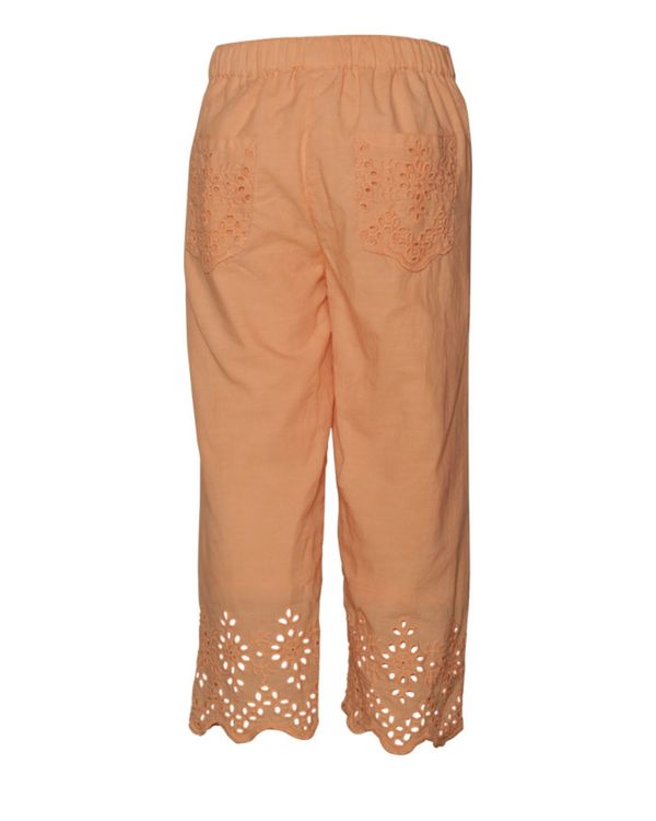 Peach cutwork boho pants 1