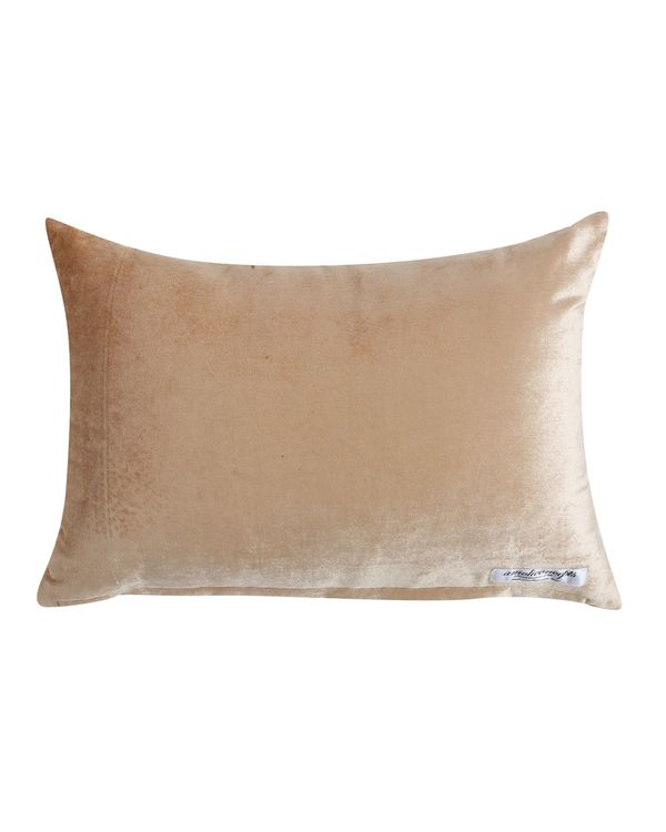 Beige and white sequined beaded cushion cover 2