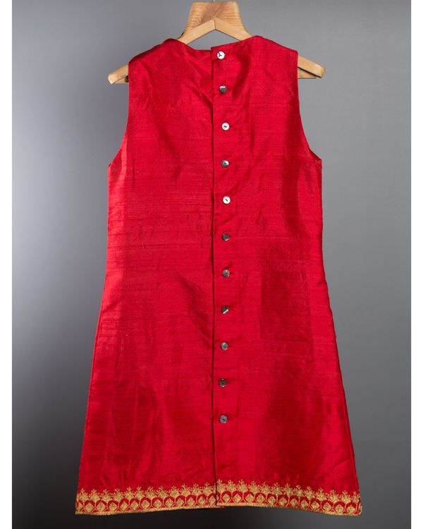 Red box pleated dress 3