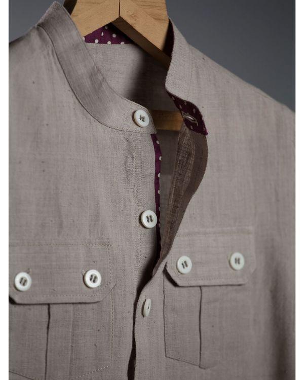 Grey short sleeve shirt 1