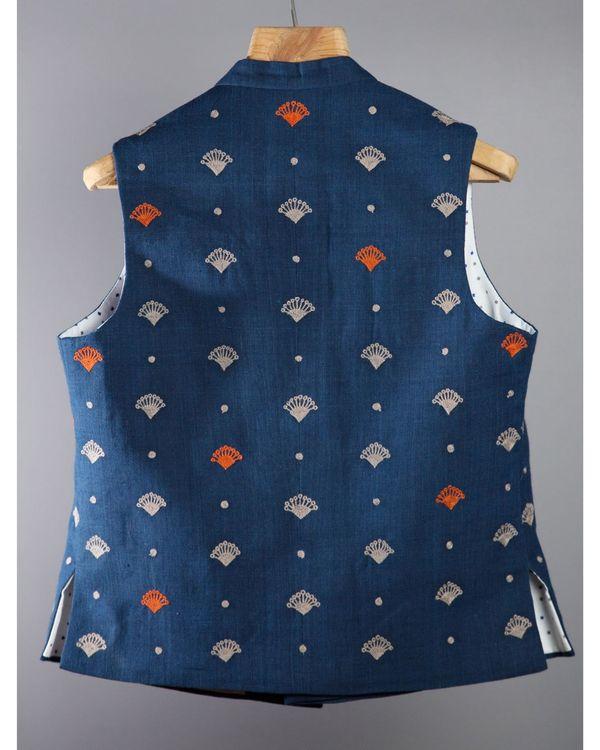 Indigo Half Sleeves jacket 2