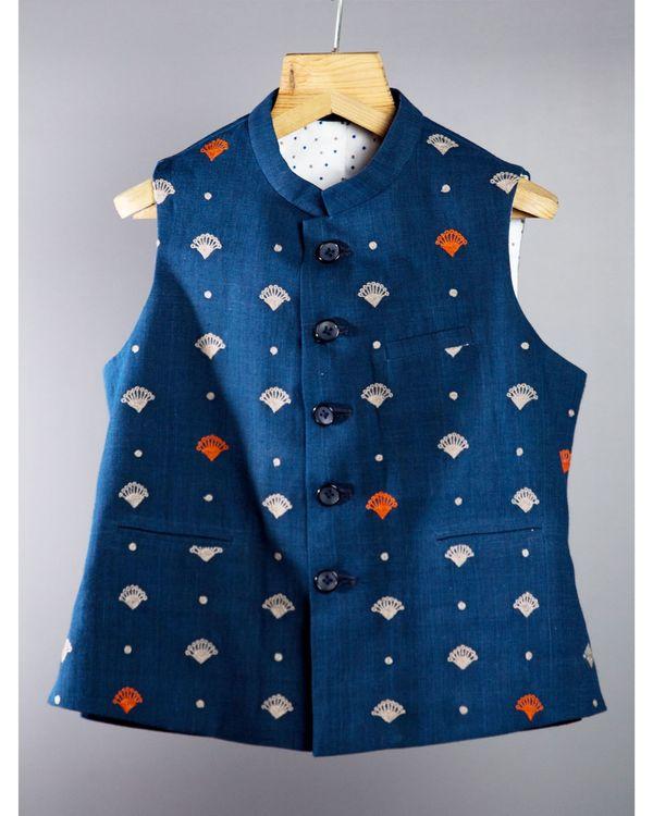 Indigo Half Sleeves jacket 1