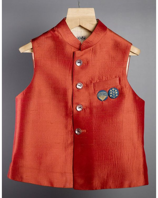 Rust red jacket 1