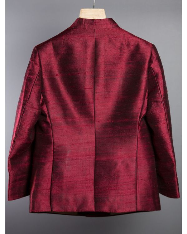 Maroon silk jacket 1