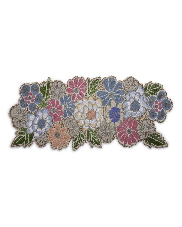 Multicolour floral and leaf motif table runner 2