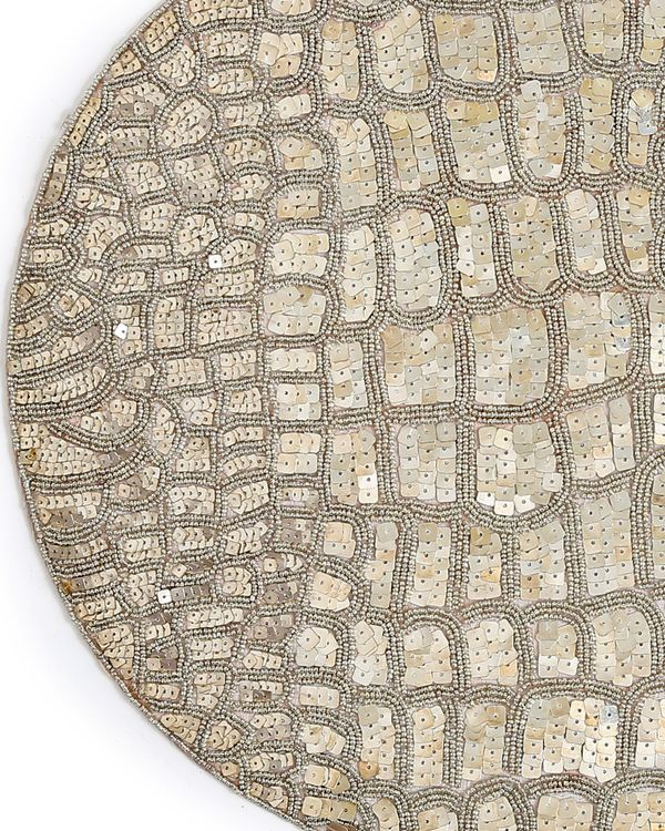 Hand beaded sequined table mat 1