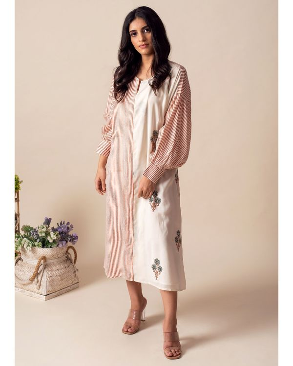 Floral printed kaftan dress with inner slip - Set Of Two 2