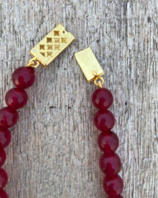 Ruby red beaded neckpiece 2