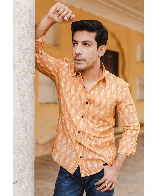 Yellow and white ikat shirt 2