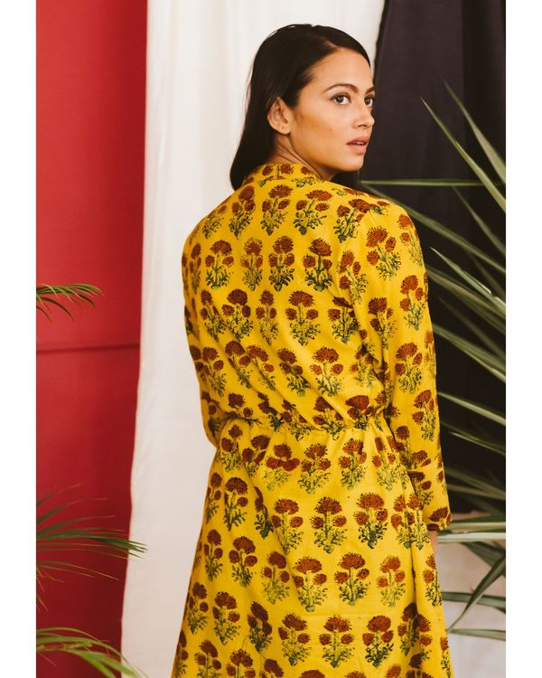 Yellow ajrakh dress 3