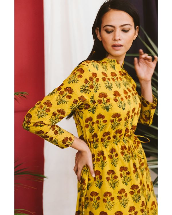 Yellow ajrakh dress 2