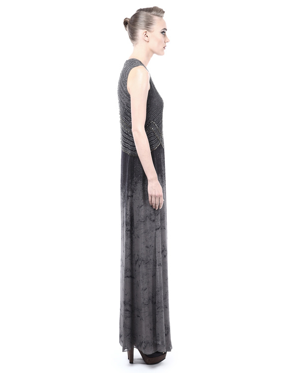 Marble shaded evening dress 3